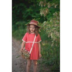 Sukienka Poppy. Pomarańczowe sukienki dziewczęce z falbanami Pakamera, eleganckie. Za 127,00 zł.