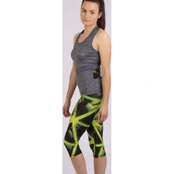 Spodnie sportowe damskie: Spokey Leginsy damskie Triani 3/4 fitness czarno-zielone r. L (839471)
