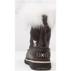 Sorel COZY JOAN X CELEBRATION Botki sznurowane black. Czarne botki damskie skórzane Sorel, na sznurówki. W wyprzedaży za 671,20 zł.