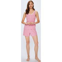 Lauren Ralph Lauren - Piżama. Różowe piżamy damskie Lauren Ralph Lauren, l, z bawełny, z krótkim rękawem. W wyprzedaży za 229,90 zł.