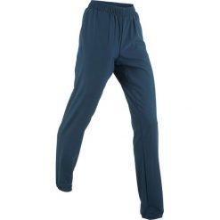 Spodnie sportowe funkcyjne, długie bonprix ciemnoniebieski. Niebieskie bryczesy damskie bonprix, w paski. Za 44,99 zł.