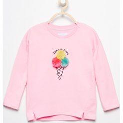 Bluzy dziewczęce rozpinane: Bluza z puszystym lodem - Różowy