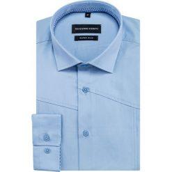 Koszula IVO slim KDNS000469. Niebieskie koszule męskie na spinki marki Giacomo Conti, m, z tkaniny, klasyczne. Za 199,00 zł.