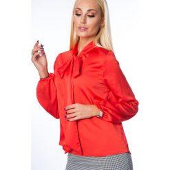 Bluzka z wiązaniem czerwona MP28495. Czerwone bluzki z odkrytymi ramionami Fasardi, l. Za 54,00 zł.