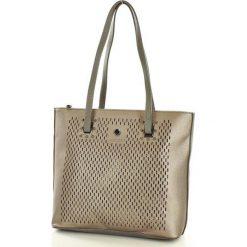 MONNARI Stylowa torebka na ramię szary z gunem. Szare torebki klasyczne damskie Monnari, ze skóry. Za 169,00 zł.