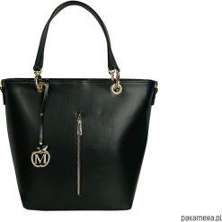 Kuferki damskie: Duża torebka kuferek MANZANA hot czarna