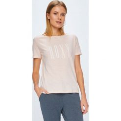 Roxy - Top. Białe topy damskie marki Roxy, l, z nadrukiem, z materiału. W wyprzedaży za 59,90 zł.