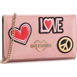 Torebka LOVE MOSCHINO - JC5605PP17LJ0600 Rosa. Czerwone torebki klasyczne damskie Love Moschino, ze skóry ekologicznej. Za 529,00 zł.