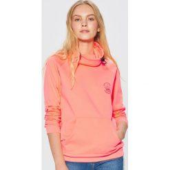 Bluza typu kangurka - Pomarańczowy. Brązowe bluzy damskie marki Cropp, l. Za 99,99 zł.