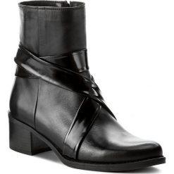 Botki EVA MINGE - Emelina 2N 17SM1372222EF 101. Czarne buty zimowe damskie marki Eva Minge, ze skóry, na obcasie. W wyprzedaży za 289,00 zł.