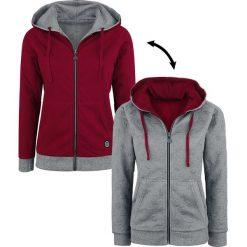 Bluzy rozpinane damskie: RED by EMP All The Small Things Bluza z kapturem rozpinana damska szary/czerwony