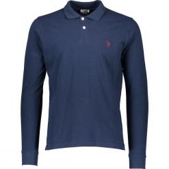 Koszulka polo w kolorze granatowym. Niebieskie bluzki z odkrytymi ramionami marki U.S. Polo Assn., m, z haftami, polo. W wyprzedaży za 130,95 zł.