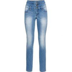 Dżinsy SKINNY z wysoką talią bonprix niebieski bleached. Zielone jeansy damskie skinny marki bonprix, w kropki, z kopertowym dekoltem, kopertowe. Za 139,99 zł.