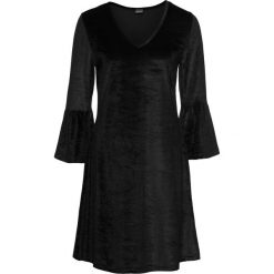 Sukienki hiszpanki: Sukienka aksamitna z falbanami: must have bonprix czarny