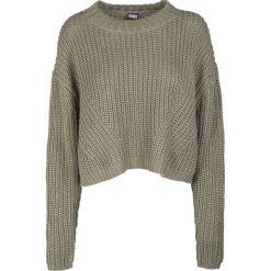 Urban Classics Ladies Wide Oversize Sweater Sweter z dzianiny oliwkowy. Zielone swetry oversize damskie Urban Classics, xs, z dzianiny. Za 121,90 zł.