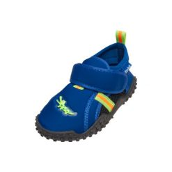 Playshoes  Buty do wody Krokodyl marine - niebieski - Gr.Moda (6 - 24 miesięcy ). Niebieskie buciki niemowlęce Playshoes, z materiału. Za 59,00 zł.