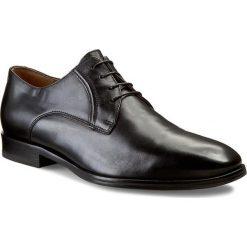 Półbuty GINO ROSSI - Rudi MPC345-323-0900-9900-0 Czarny 99. Czarne buty wizytowe męskie Gino Rossi, ze skóry. W wyprzedaży za 299,00 zł.