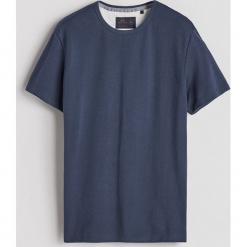 Gładki T-shirt - Granatowy. Białe t-shirty męskie marki Reserved, l. Za 49,99 zł.