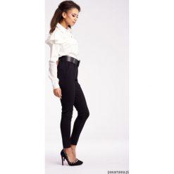Spodnie z wysokim stanem: Klasyczne spodnie z ozdobną gumą w pasie