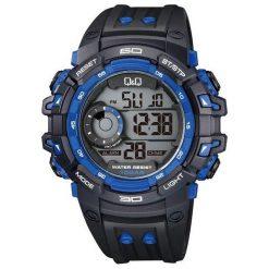 Zegarek Q&Q Męski Q&Q M156-004 Dual Time czarno-granatowy. Czarne zegarki męskie Q&Q. Za 119,80 zł.