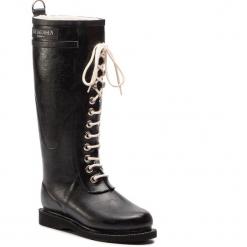 Kalosze ILSE JACOBSEN - RUB1 Black 01. Brązowe buty zimowe damskie marki Alma en Pena, z materiału, na obcasie. W wyprzedaży za 449,00 zł.