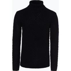 Joop - Sweter męski – Stefano, niebieski. Niebieskie swetry klasyczne męskie JOOP!, m, w paski, z wełny. Za 649,95 zł.