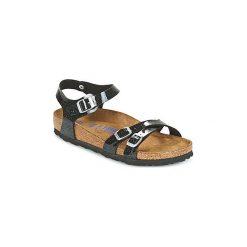 Sandały Birkenstock  KUMBA. Szare sandały damskie marki Birkenstock, z materiału. Za 295,20 zł.