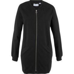 Bluza rozpinana, długi rękaw, z kolekcji Maite Kelly bonprix czarny. Czarne bluzy rozpinane damskie bonprix, z długim rękawem, długie. Za 89,99 zł.