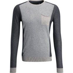 Swetry klasyczne męskie: Teddy Smith POKOS  Sweter gris chine moyen