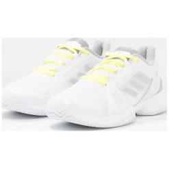 Buty sportowe damskie: adidas Performance SMC BARRICADE Obuwie multicourt white/universe/solar yellow