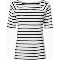 More & More - T-shirt damski, beżowy. Brązowe t-shirty damskie More & More, w paski, z wiskozy. Za 139,95 zł.