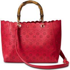 Torebka do ręki bonprix truskawkowy. Czerwone torebki klasyczne damskie marki bonprix, małe. Za 89,99 zł.