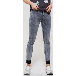 Jeansy high waist skinny - Szary. Szare jeansy damskie skinny House, z podwyższonym stanem. Za 79,99 zł.