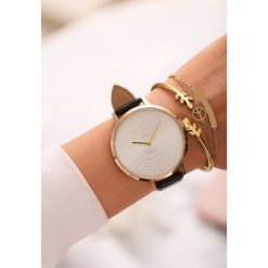Biżuteria i zegarki: Czarny Zegarek Open It