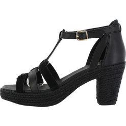 """Sandały damskie: Skórzane sandały """"Coconut"""" w kolorze czarnym"""