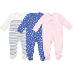Odzież dziecięca: Komplet,3 piżamy bawełniane 0 m-cy – 3 latka Oeko Tex