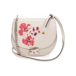 Torebki klasyczne damskie: Skórzana torebka w kolorze szarym – (S)24 x (W)22 x (G)9 cm