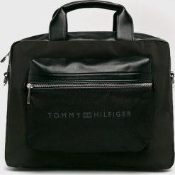 Tommy Hilfiger - Torba. Czarne torby na laptopa TOMMY HILFIGER, w paski, z materiału. Za 699,90 zł.