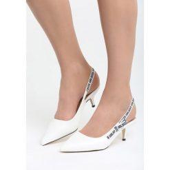 Białe Sandały Behind The Corner. Białe sandały damskie Born2be, z materiału, na wysokim obcasie, na obcasie. Za 79,99 zł.