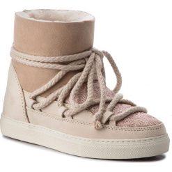 Buty INUIKII - Sneaker 70202-7 Sequin Powder. Brązowe buty zimowe damskie Inuikii, z nubiku, na niskim obcasie. Za 1129,00 zł.