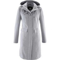Płaszcze damskie: Płaszcz bonprix jasnoszary melanż