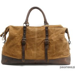 WAX VAMP VINTAGE XL™ baw+skóra - KHAKI. Brązowe torby na ramię męskie marki Kazar, ze skóry, przez ramię, małe. Za 489,00 zł.