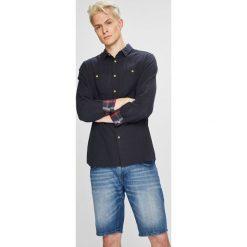 Mustang - Koszula. Szare koszule męskie na spinki Mustang, l, z bawełny, z klasycznym kołnierzykiem, z długim rękawem. W wyprzedaży za 139,90 zł.