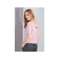 T-shirt damski EVE. Czerwone t-shirty damskie MeMola, z elastanu, z dekoltem w łódkę. Za 64,50 zł.
