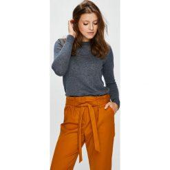Vila - Sweter. Brązowe swetry klasyczne damskie marki Vila, l, z bawełny, z okrągłym kołnierzem. Za 149,90 zł.