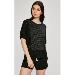 Dkny - Top piżamowy. Szare piżamy damskie DKNY, l, z dzianiny. W wyprzedaży za 129,90 zł.
