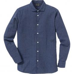 Koszula flanelowa Regular Fit bonprix niebieski wzorzysty. Niebieskie koszule męskie na spinki bonprix, l. Za 89,99 zł.