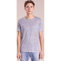 Rag & bone OWEN TEE Tshirt basic blue. Niebieskie t-shirty męskie rag & bone, m, ze lnu. Za 509,00 zł.