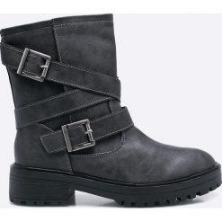 Corina - Botki. Czarne buty zimowe damskie Corina, z materiału, na obcasie. W wyprzedaży za 69,90 zł.