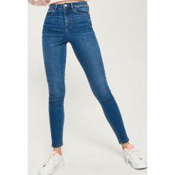 Jeansy skinny high waist - Niebieski. Niebieskie spodnie z wysokim stanem Sinsay, z jeansu. W wyprzedaży za 59,99 zł.